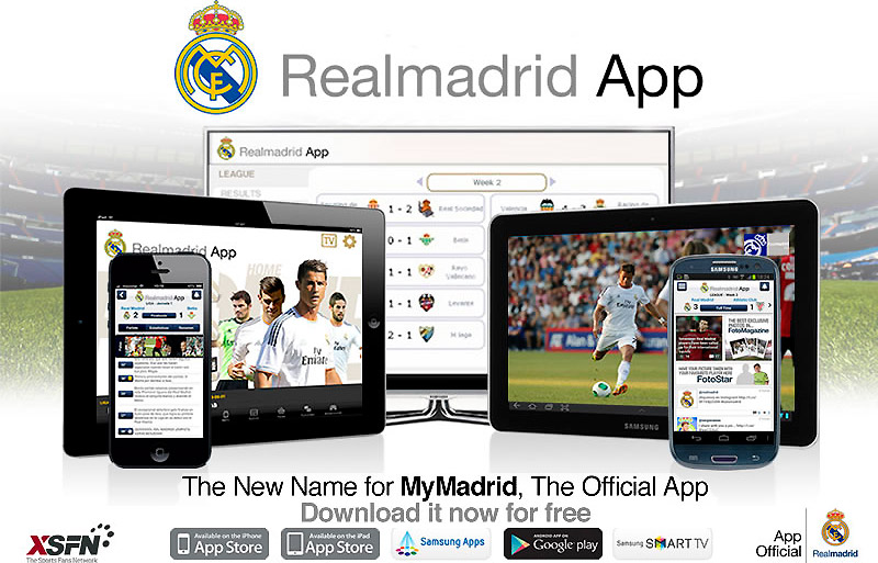 Real Madrid Updates The Name Of Their Official Application Which Will Now Be Called Realmadrid App Real Madrid Cf