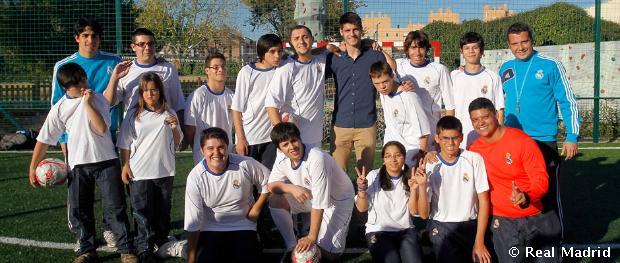 Morata visited the fundaci n real madrid 39 s inclusive - Carmen pardo valcarce ...