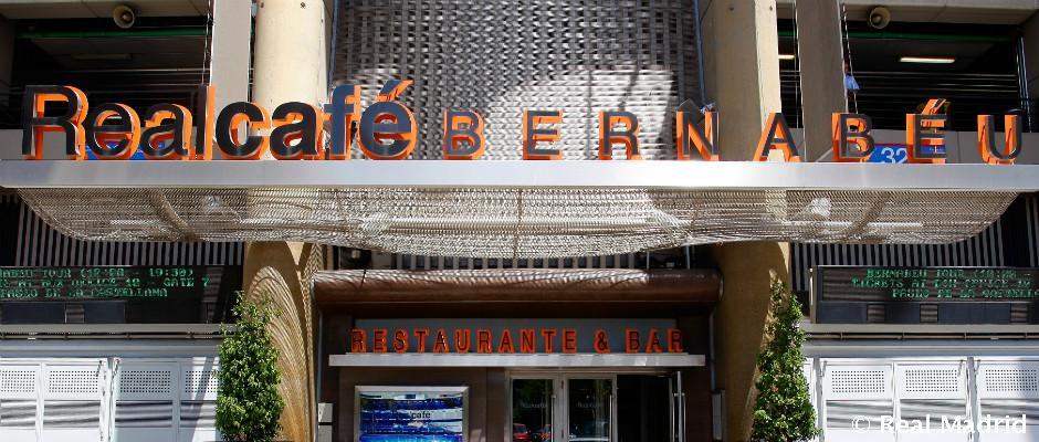 Restaurantes y cafeter as en el bernabeu real madrid cf for Puerta 53 santiago bernabeu