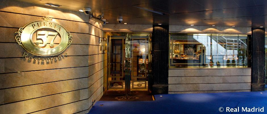 Puerta 57 madrid restaurante del bernab u real madrid cf for Puerta 53 santiago bernabeu
