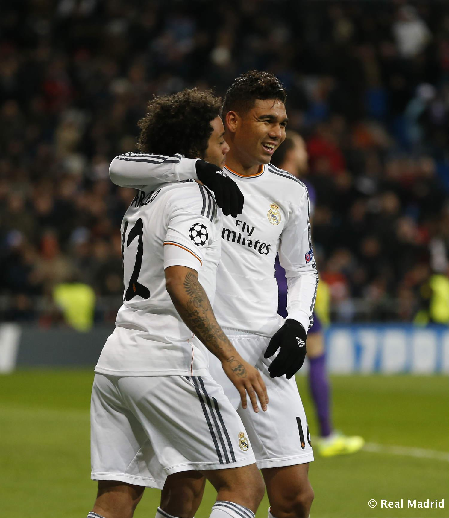 Real Madrid - Casemiro y Marcelo - 27-01-2014