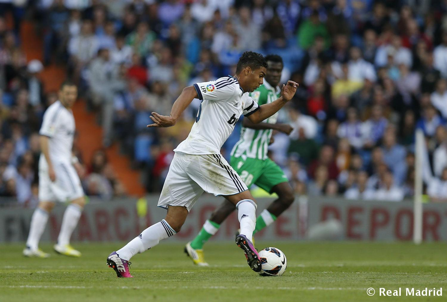 Real Madrid - Casemiro. Real Madrid-Betis (2013), debut en Liga - 27-01-2014