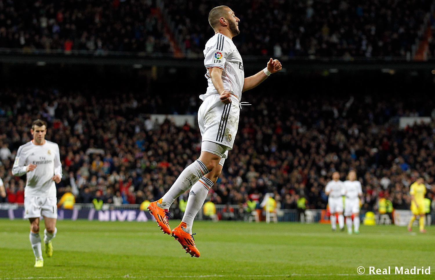 Real Madrid - Benzema. Real Madrid - Villarreal - 09-02-2014