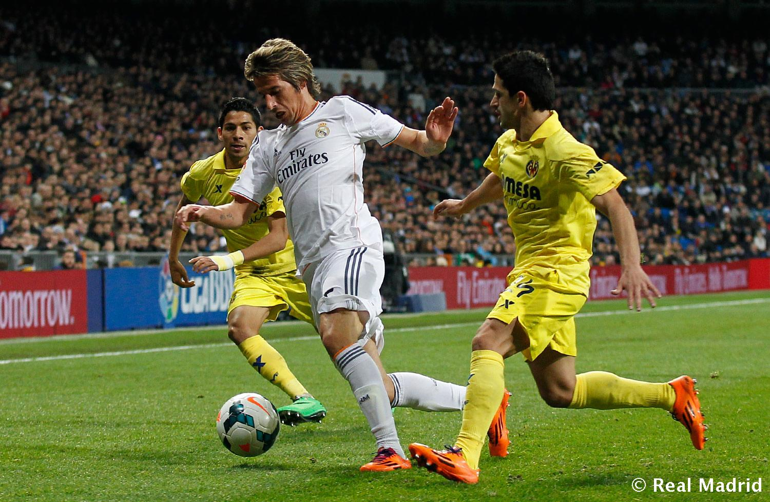 Real Madrid - Coentrao. Real Madrid - Villarreal - 09-02-2014