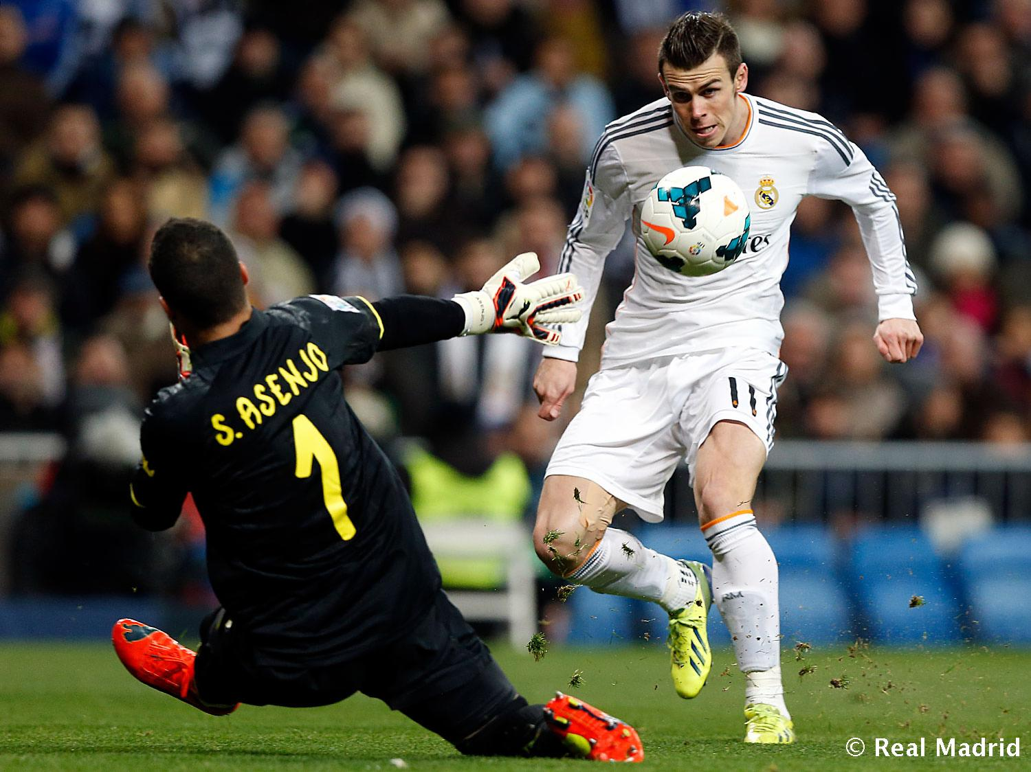 Real Madrid - Bale. Real Madrid - Villarreal - 09-02-2014
