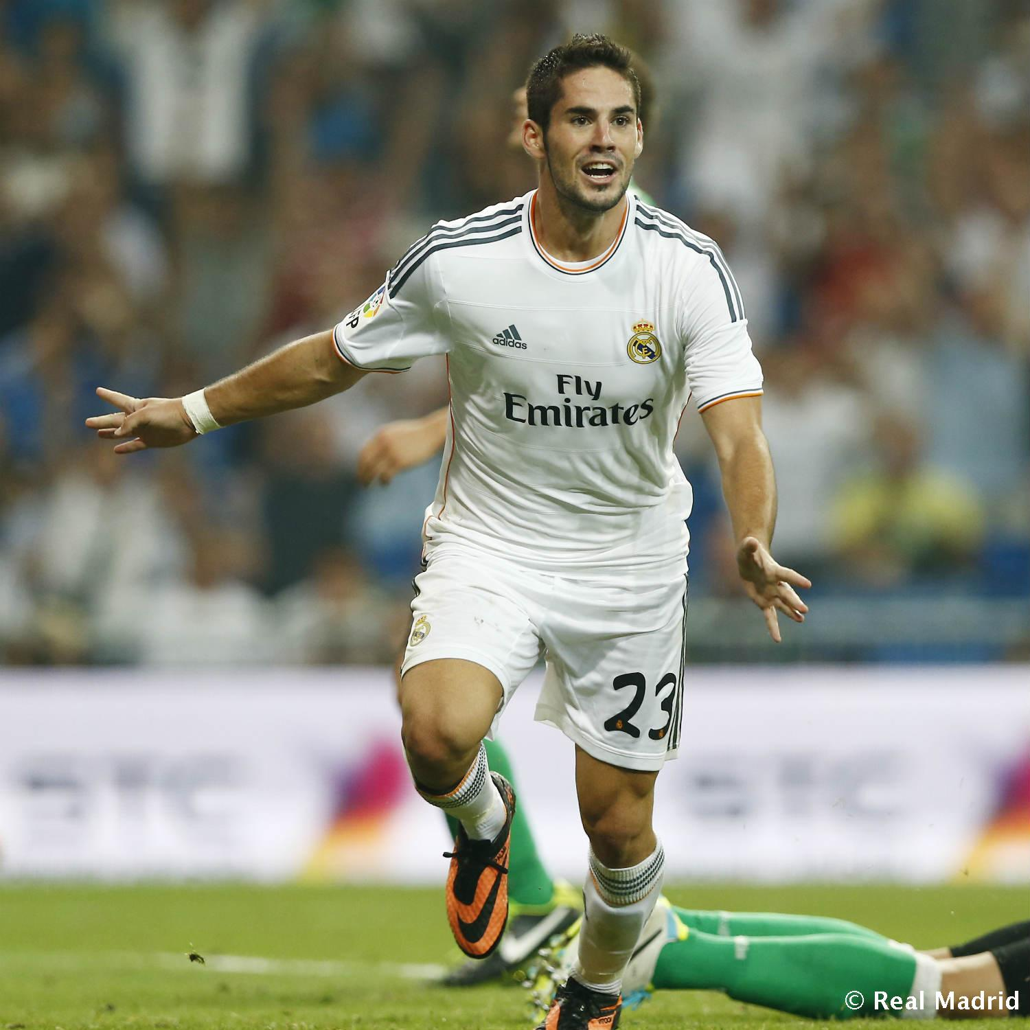Real Madrid - Isco. Real Madrid-Betis (2013), debut en Liga - 27-01-2014