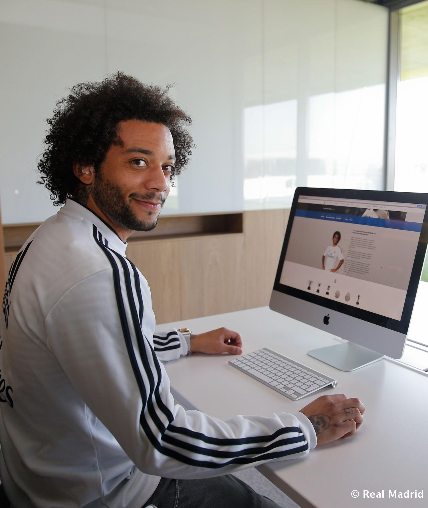 Real Madrid - Marcelo, welcome to the new Realmadrid.com - 20-02-2014