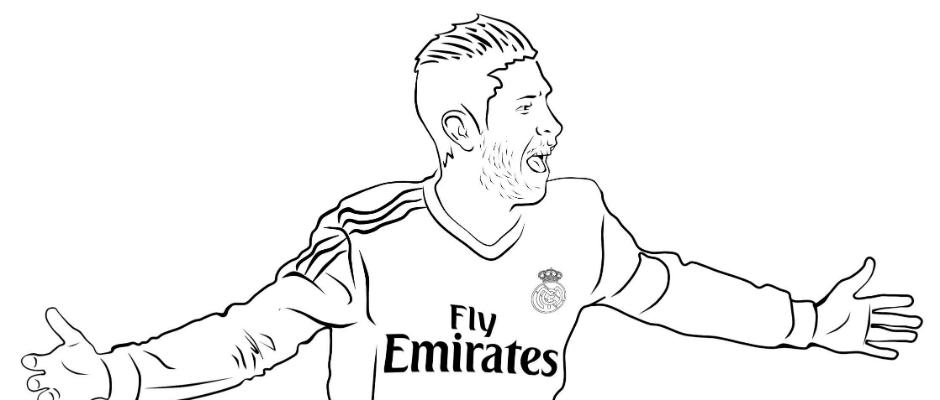 Colour In Your Idols Real Madrid Cf