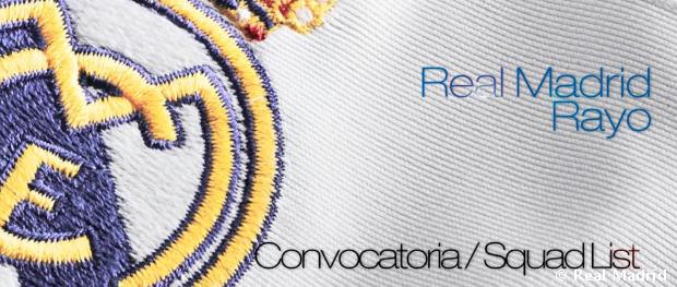 Convocatoria del Real Madrid frente al Rayo Vallecano