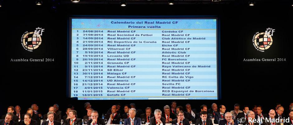 Calendario Real Madrid Liga.Asi Queda El Calendario Del Real Madrid Para La Liga 2014 15 Real