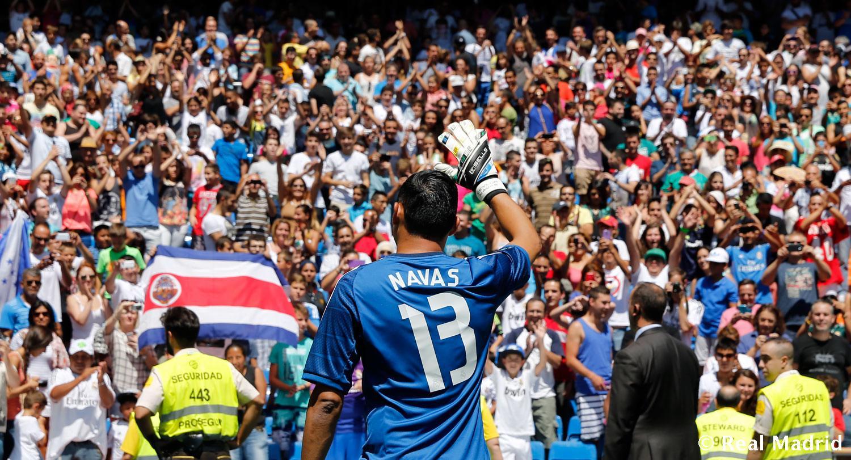 صور كيلور نافاس حارس ريال مدريد في ملعب سانتياجو بيرنابيو