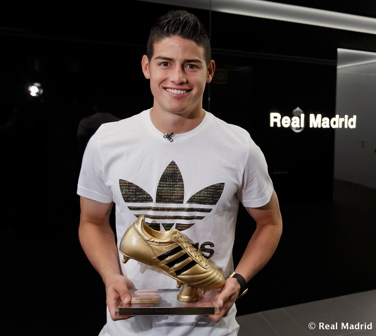 Real Madrid - James Rodríguez, Bota de Oro del Mundial 2014 - 08-08-2014