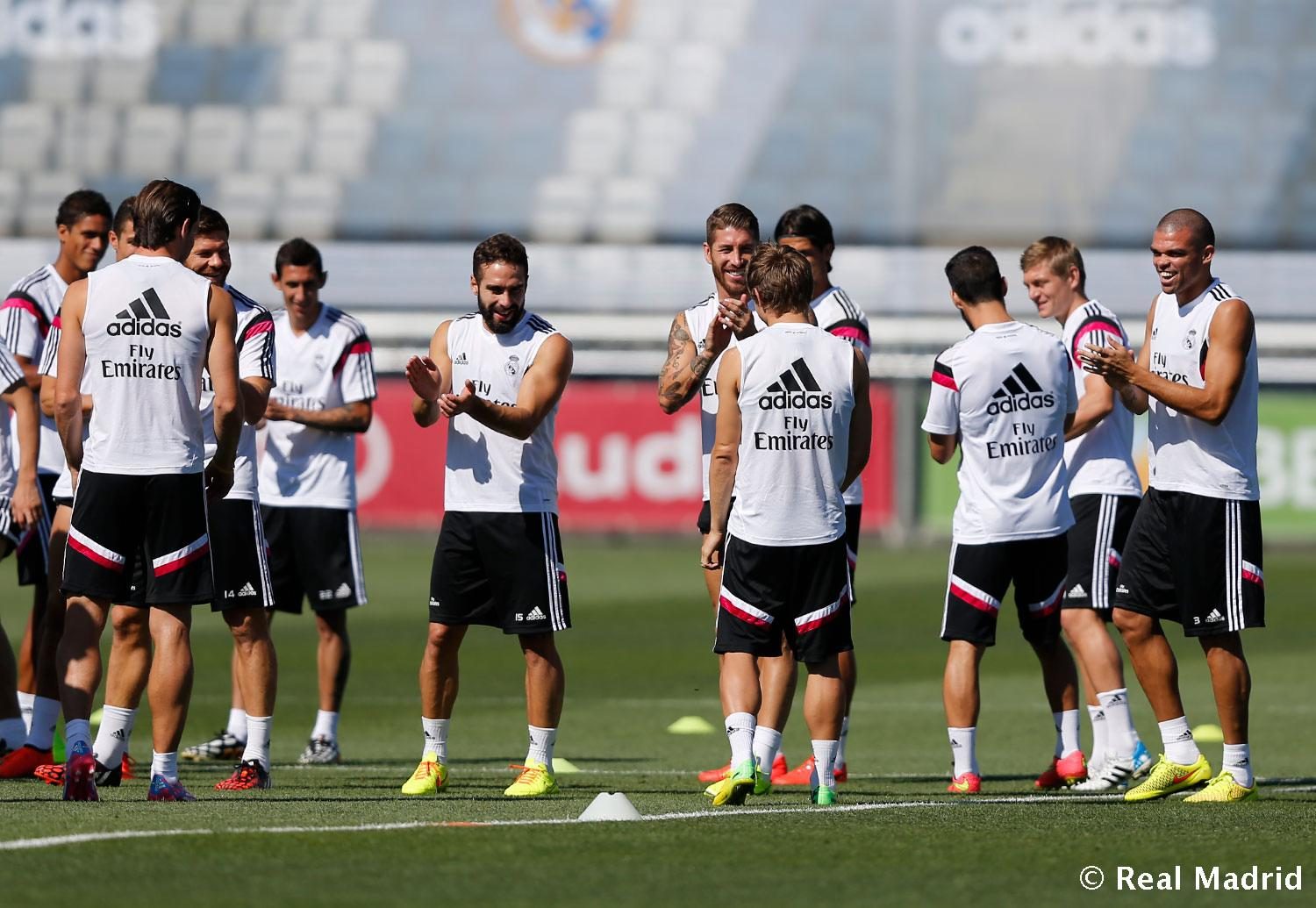 Real Madrid - Entrenamiento del Real Madrid - 21-08-2014
