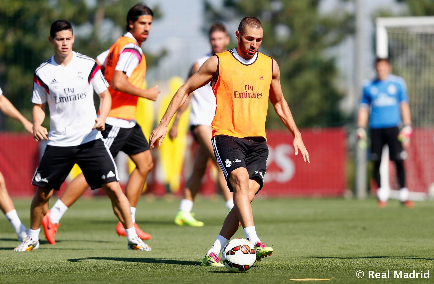 Real Madrid - Entrenamiento del Real Madrid - 24-08-2014