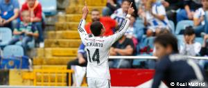 Enjoy Chicharito's first brace for Real Madrid