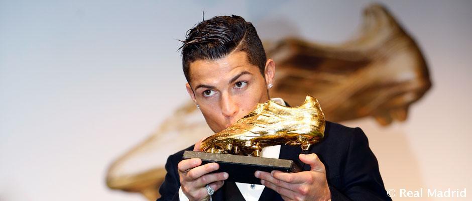 Cristiano Ronaldo recibe hoy la Bota de Oro