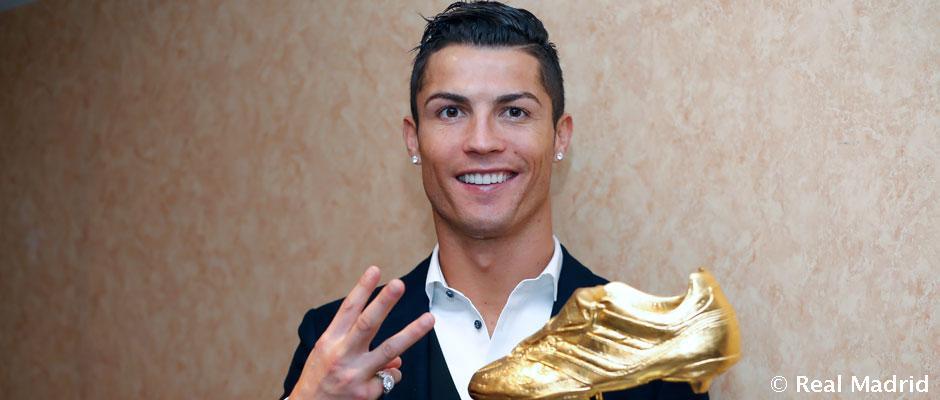 6dc4e7118a Cristiano Ronaldo recibió su tercera Bota de Oro | Real Madrid CF