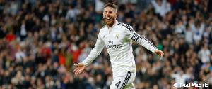Sergio Ramos scored his 50th Real Madrid goal
