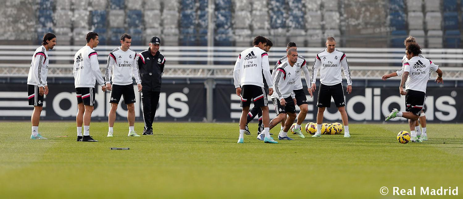 Real Madrid - Entrenamiento del Real Madrid - 21-11-2014