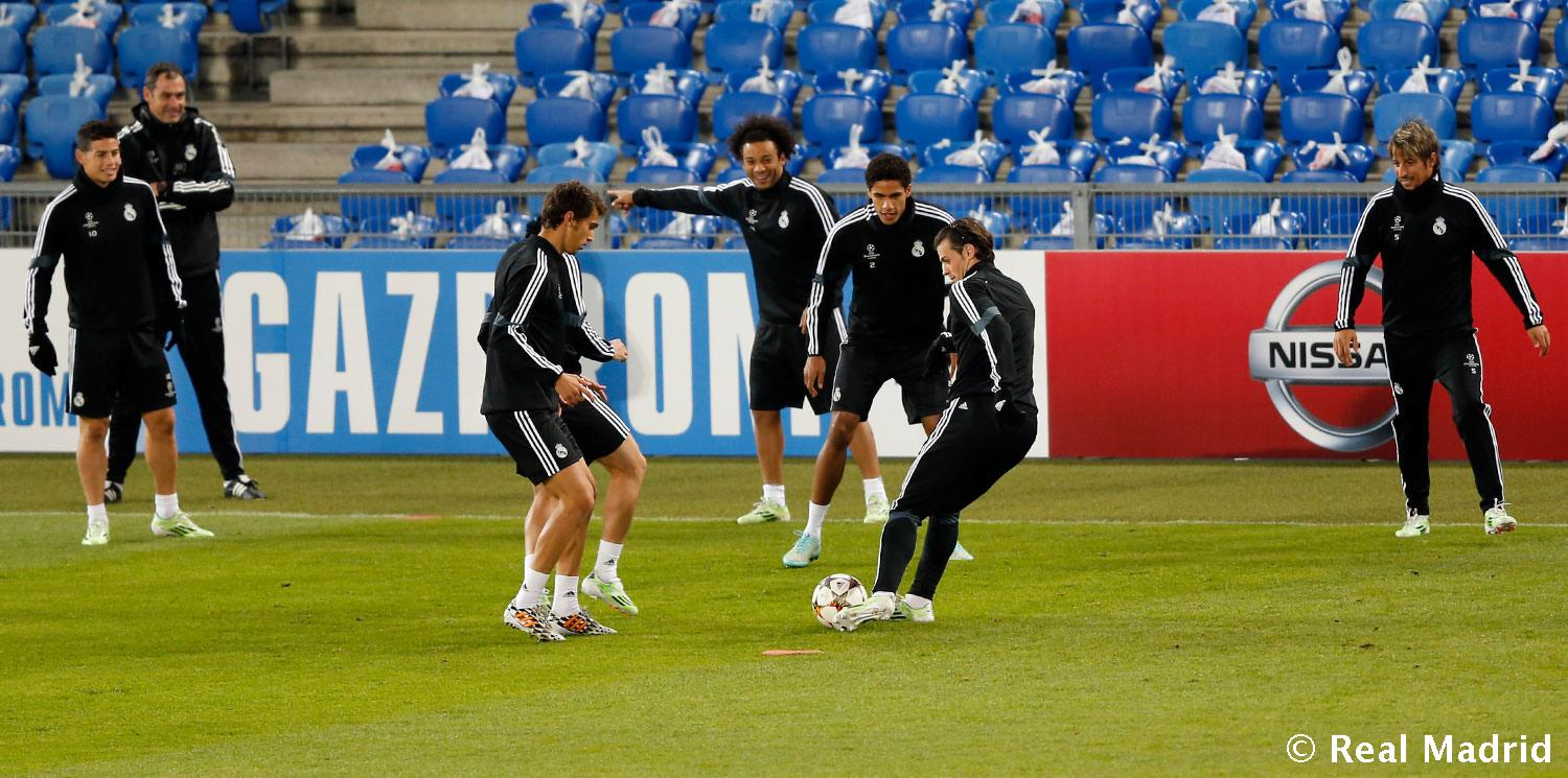 Real Madrid - Entrenamiento del Real Madrid - 25-11-2014