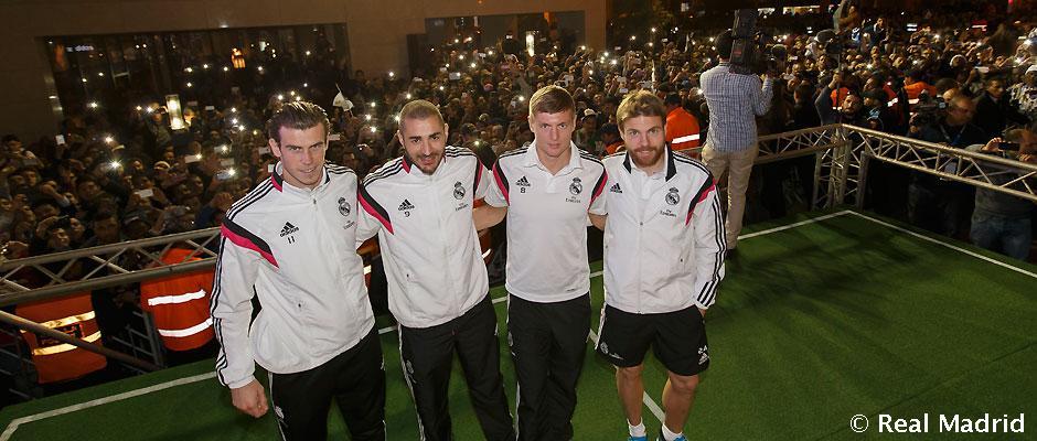 Bale, Benzema, Kroos e Illarra, protagonistas en la tienda adidas de Marrakech