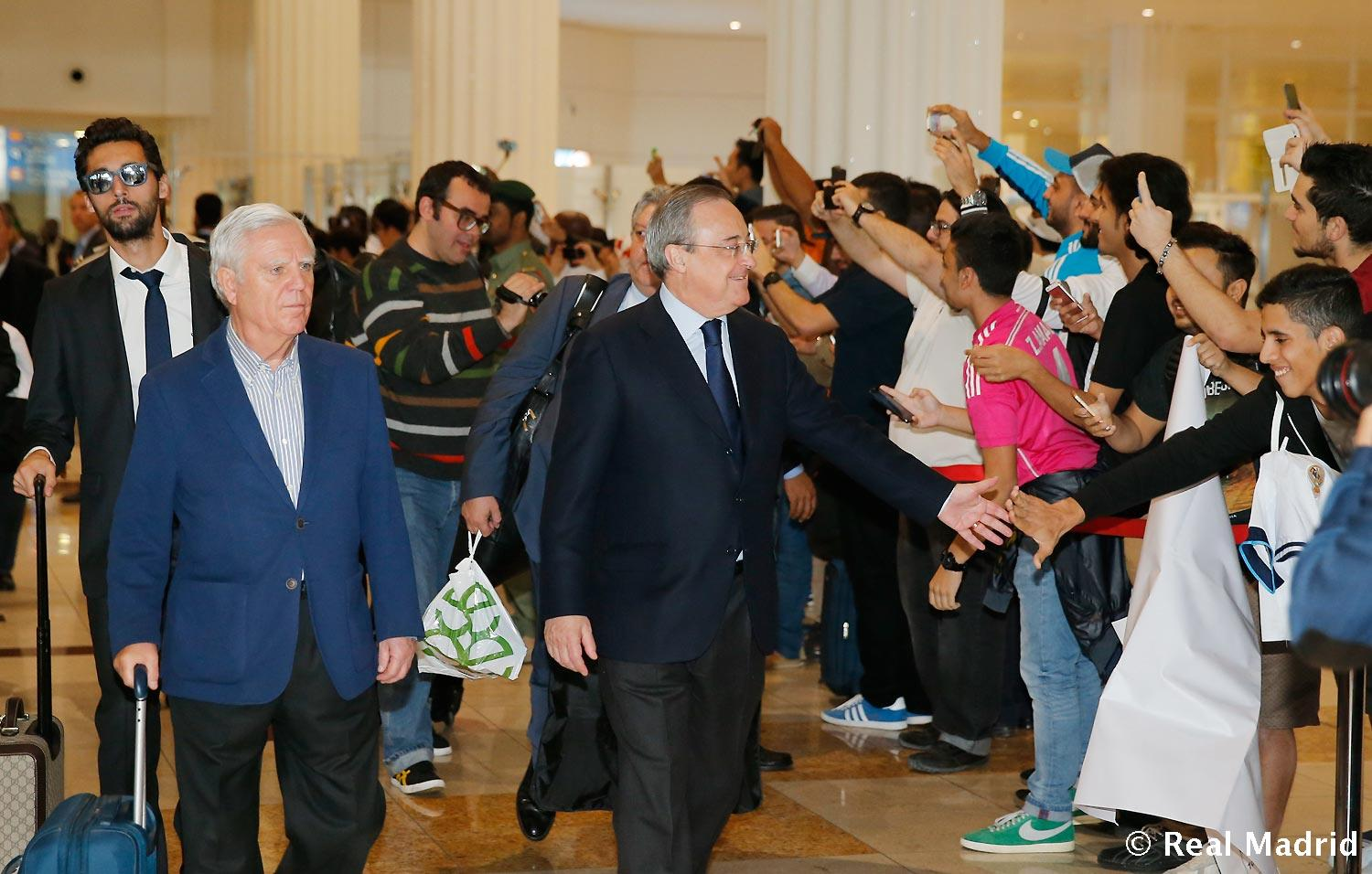 Real Madrid - Llegada del Real Madrid a Dubai - 29-12-2014