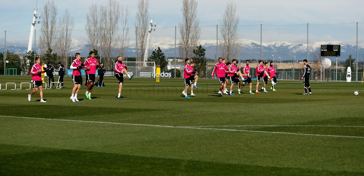 Real Madrid - Entrenamiento del Real Madrid - 16-02-2015