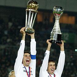 madrid cups intercontinental realmadrid honours football 2002 trophies cf