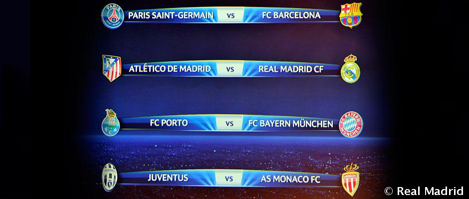 Atlético Madrid-Real Madrid drawn in the quarter-final of ...