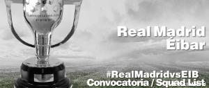 Convocatoria del Real Madrid - Eibar