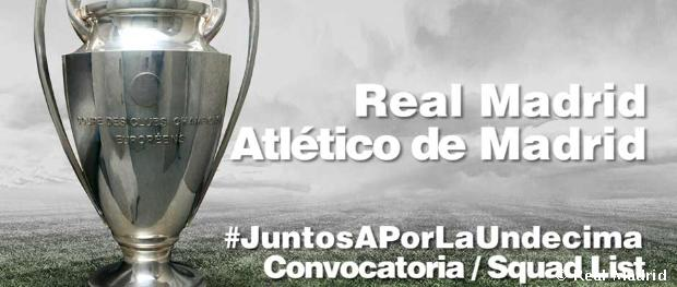 Convocatoria del Real Madrid - Atlético de Madrid