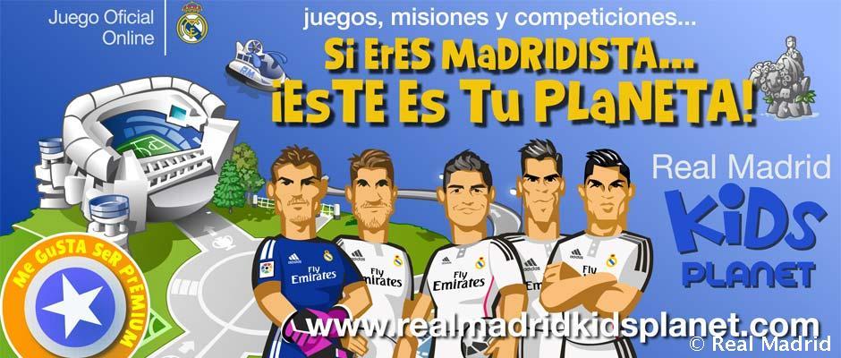 Real Madrid Kids Planet, un juego virtual seguro para los niños