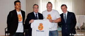 Florentino Pérez meets the Real Madrid Norwegian Supporters' Club