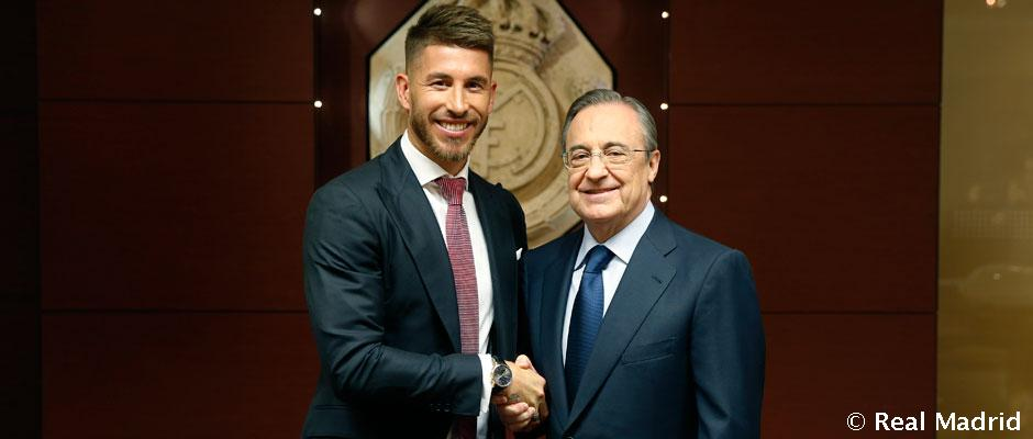 Sergio Ramos signs his contract extension with Real Madrid ...