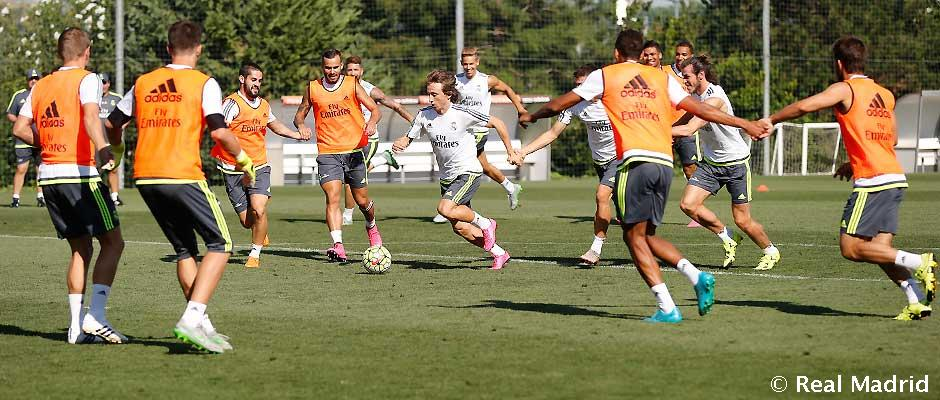 Real Madrid continue preparations for the clash against Sporting