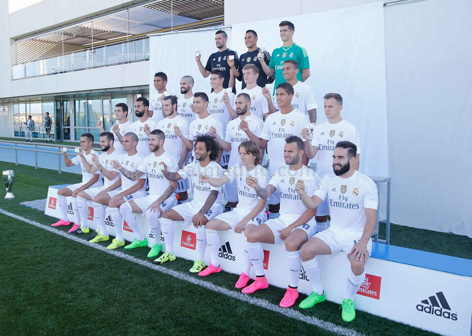Real Madrid - Foto oficial del Real Madrid - 21-09-2015