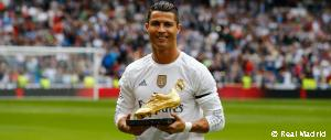 Cristiano Ronaldo shares Golden Shoe with the Santiago Bernabéu