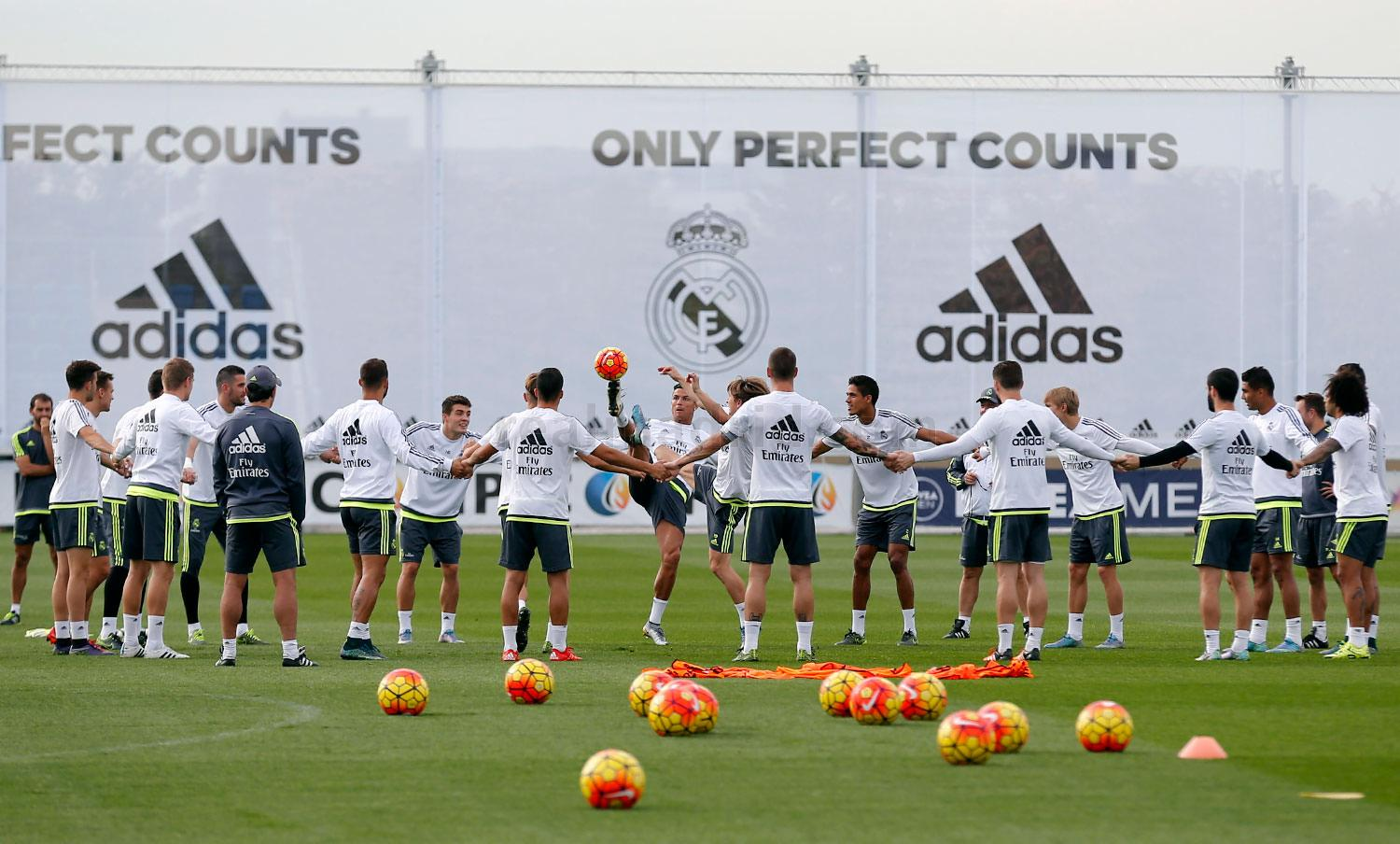 Real Madrid - Entrenamiento del Real Madrid - 23-10-2015