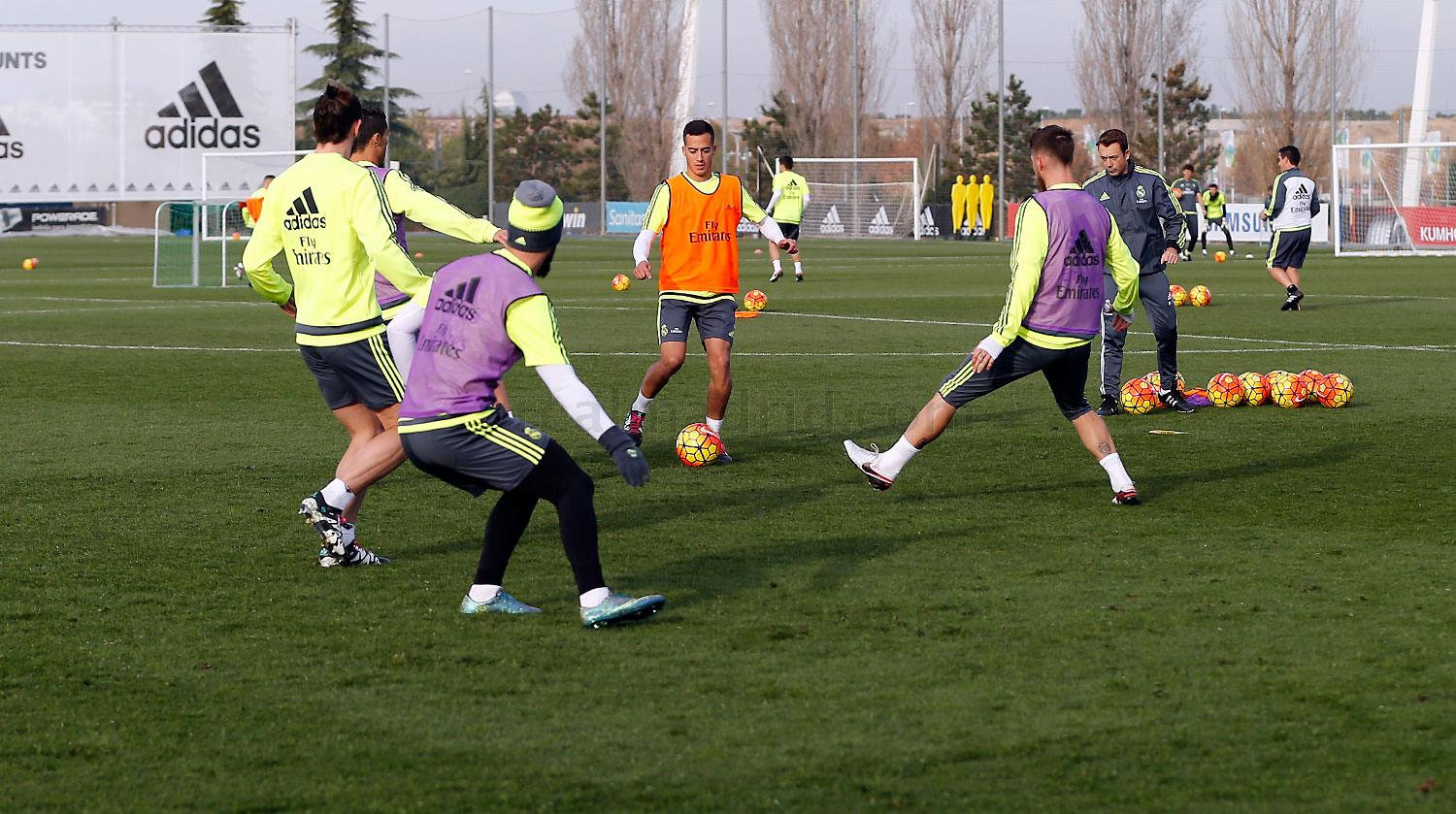 Real Madrid - Entrenamiento del Real Madrid - 18-12-2015