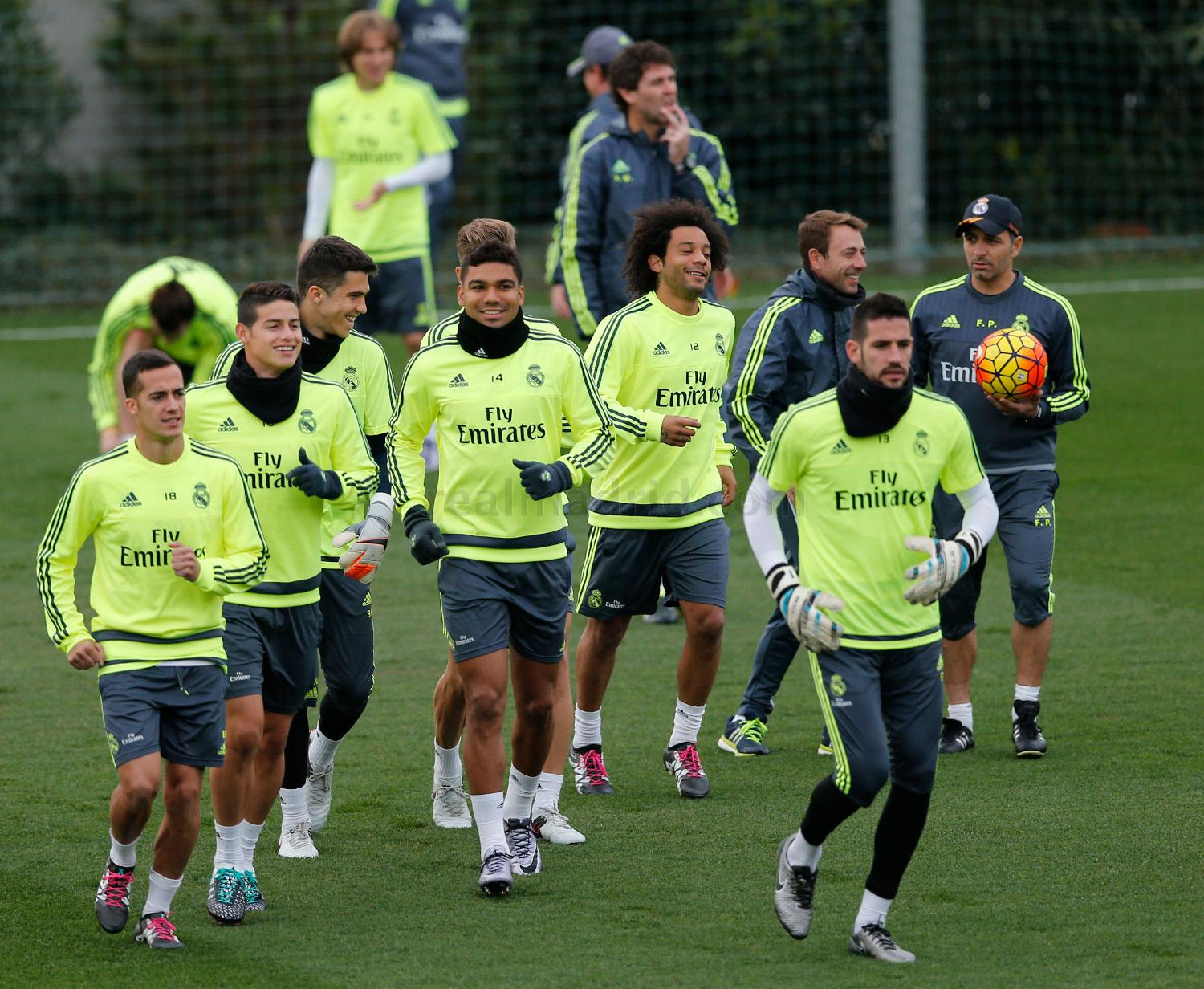 Real Madrid - Entrenamiento vespertino del Real Madrid - 27-12-2015