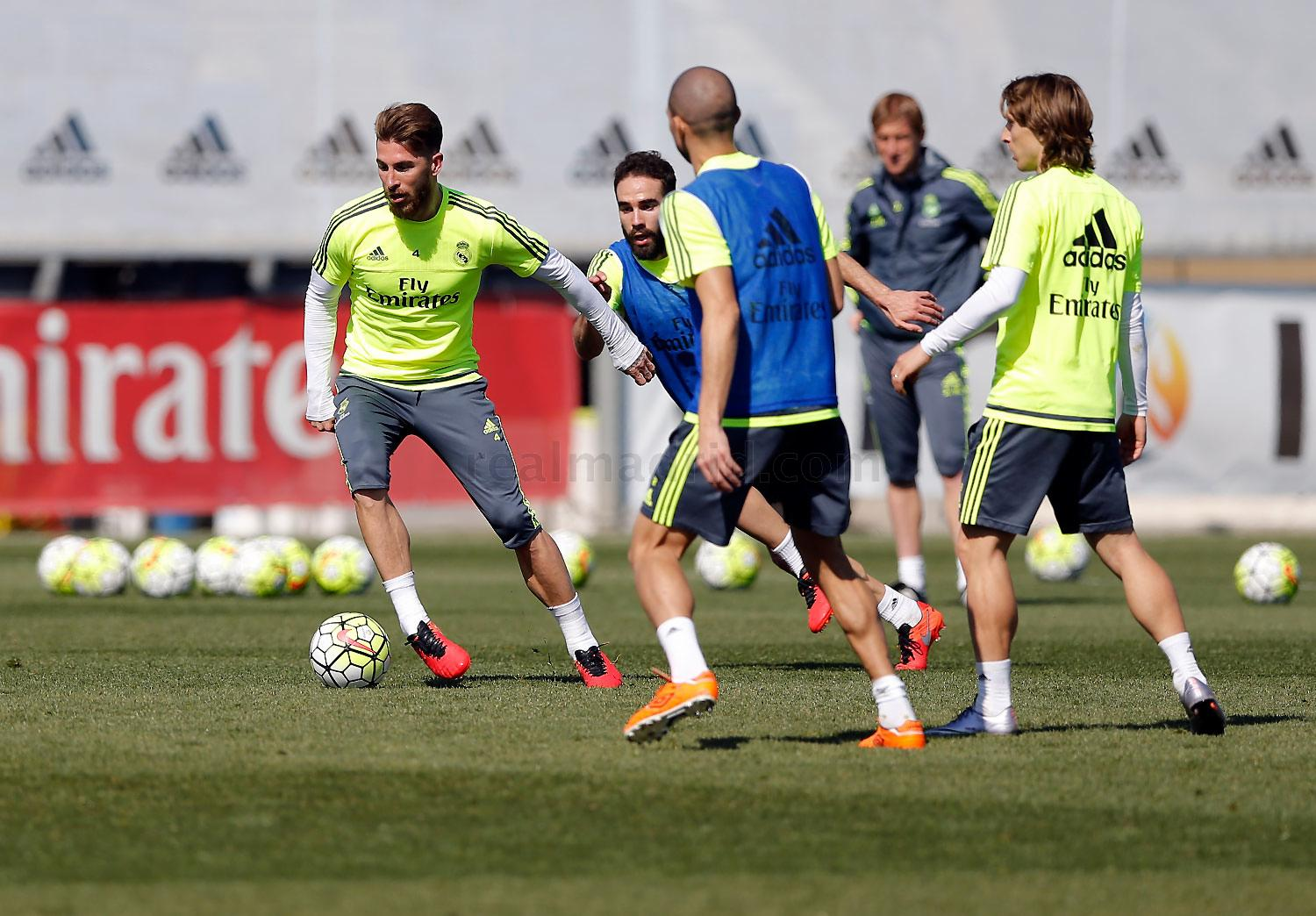 Real Madrid - Entrenamiento del Real Madrid - 16-03-2016