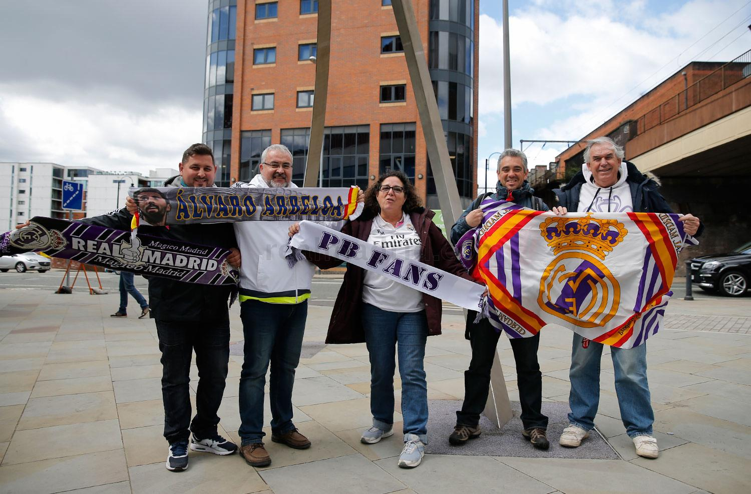Real Madrid - Aficionados del Real Madrid en Manchester - 26-04-2016
