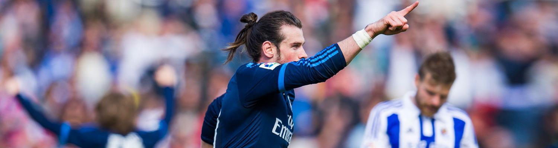 0-1: Satu gol dari Bale telah membuat Madrid tetap berada dalam pertarungan meraih Liga
