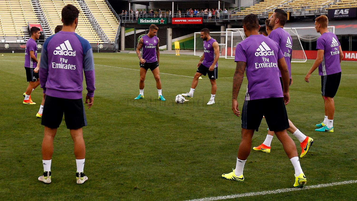 Real Madrid - Entrenamiento del Real Madrid en Columbus - 27-07-2016