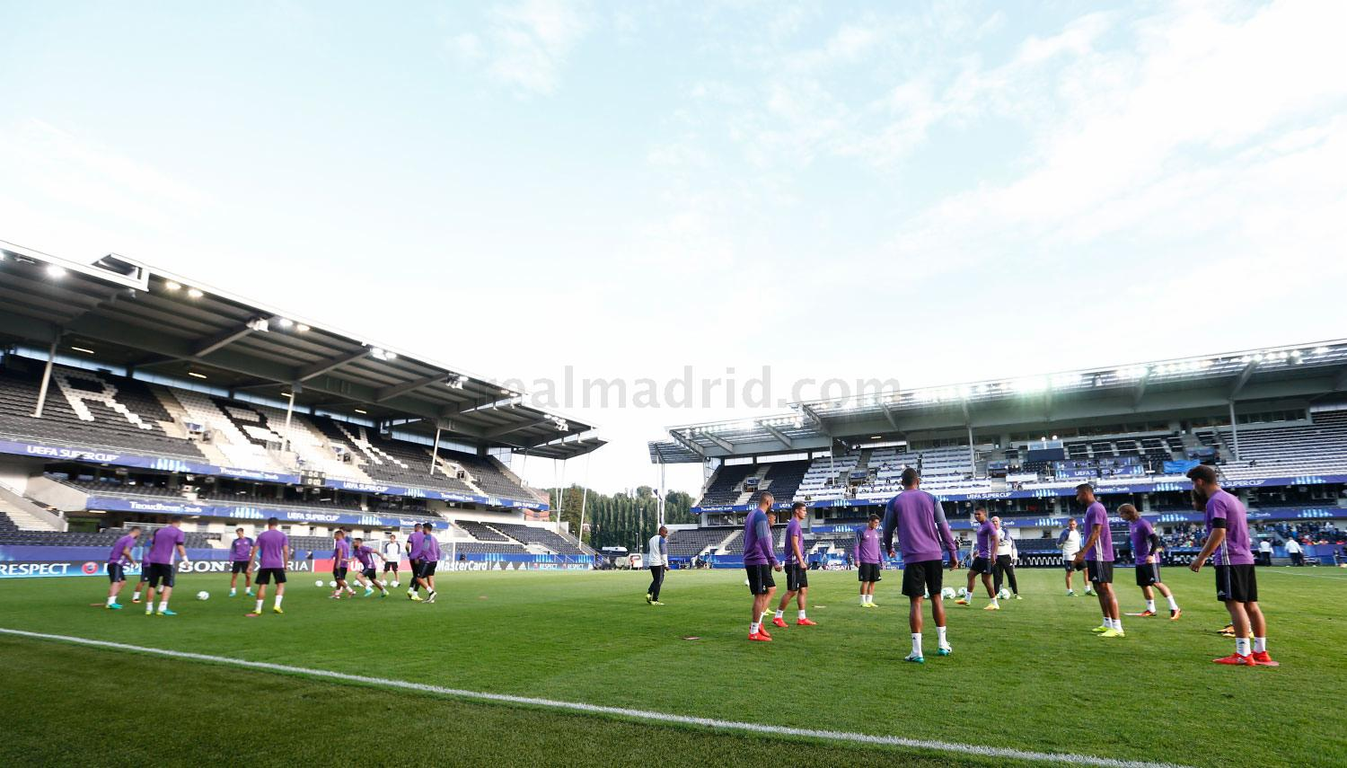 Real Madrid - Entrenamiento del Real Madrid en Trondheim - 08-08-2016