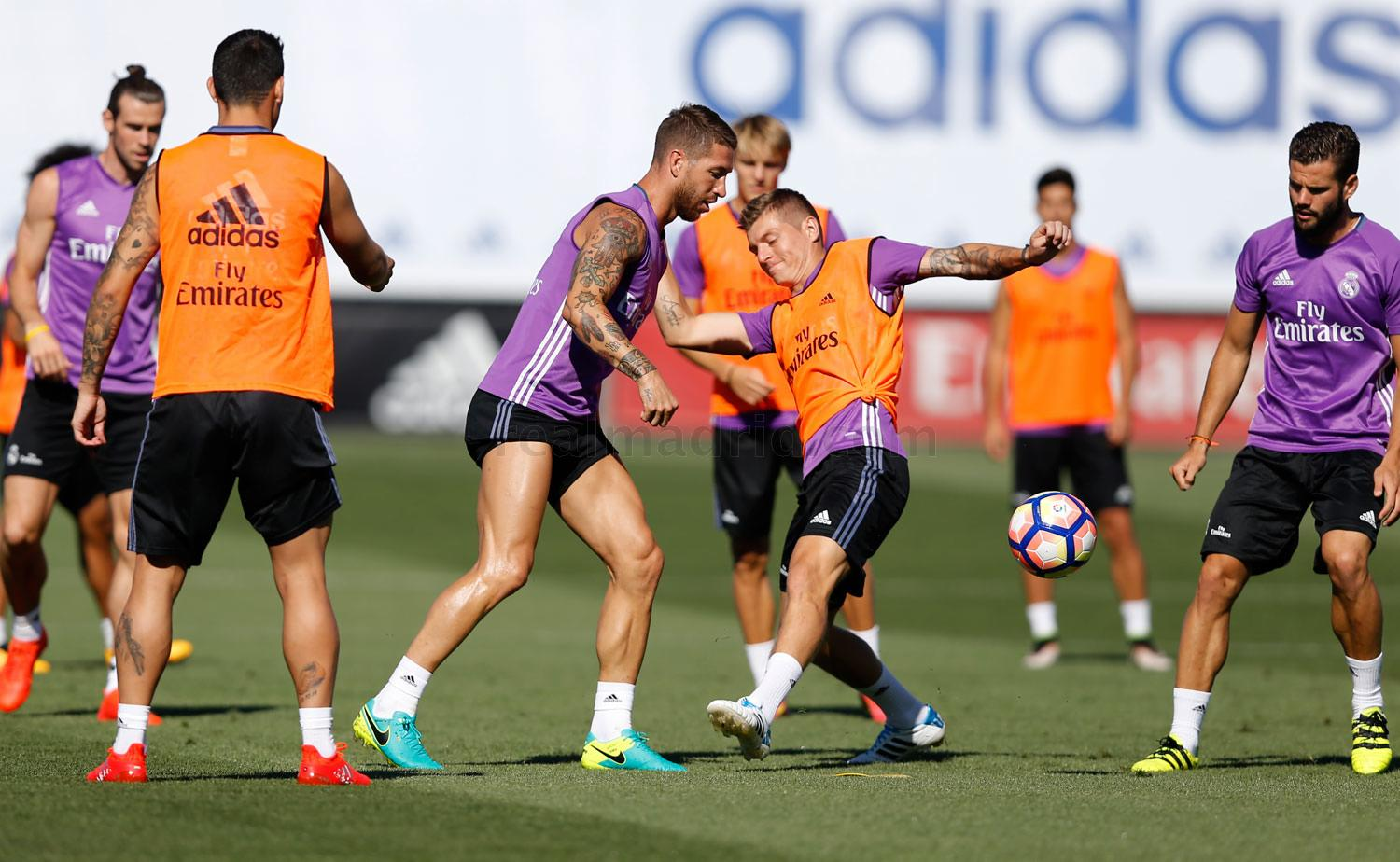 Real Madrid - Entrenamiento del Real Madrid - 19-08-2016