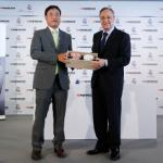 Real Madrid present the agreement with Hankook Tire