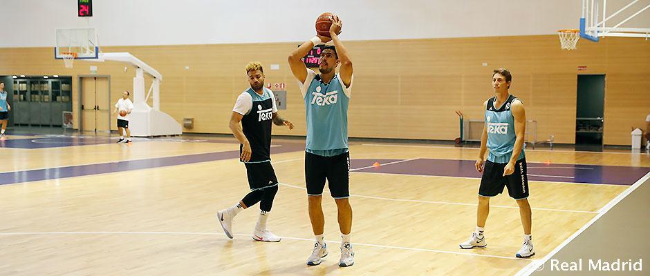 Entrenamiento del Real Madrid de Baloncesto