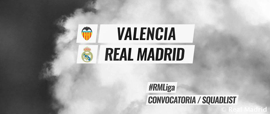 Video: The 19-man squad for the Valencia clash
