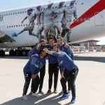 Emirates presented the new Real Madrid A380